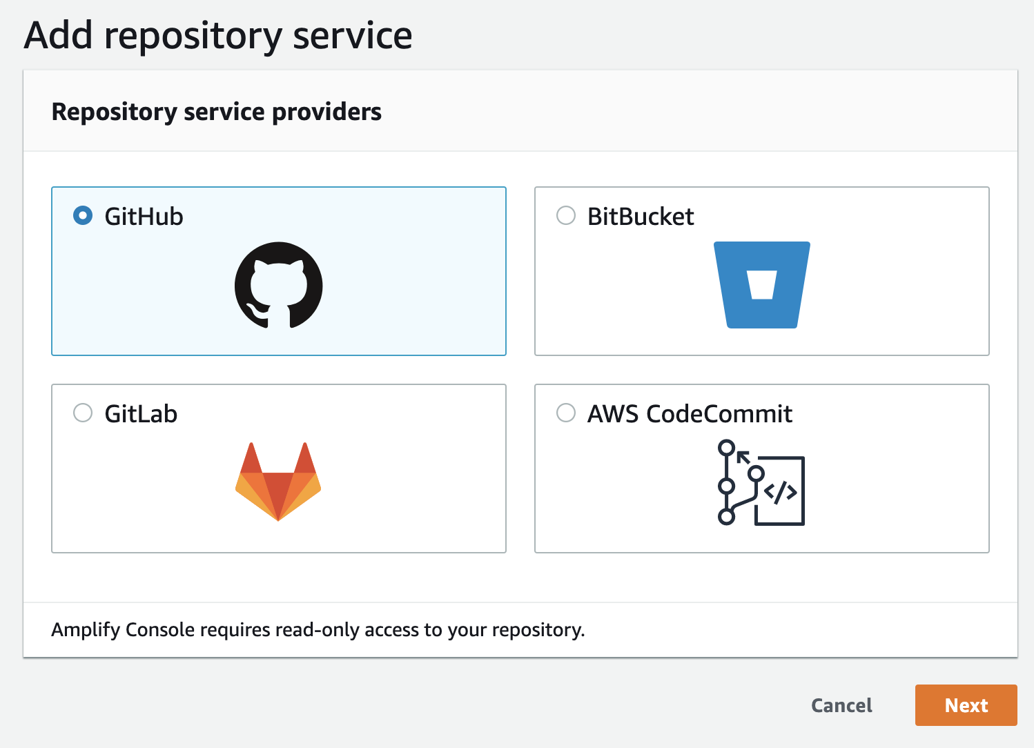 Connect Repository